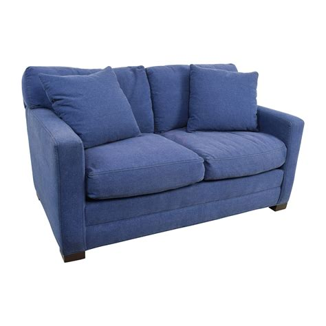 denim sofa and loveseat 79 off lee industries lee industries denim blue