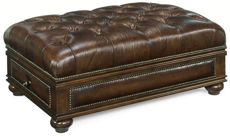 ottoman with drawers storage quick ship leather ottoman with drawer