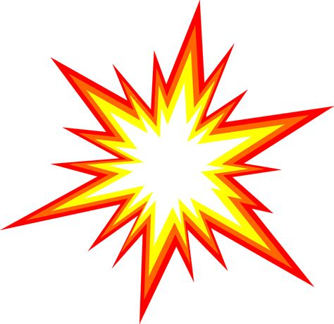 6 Starburst Explosion Comic Vector (PNG Transparent, SVG ...