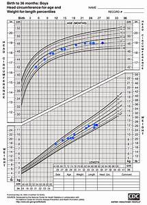 Plotted Cdc Charts For Maximo U0026 39 S Height  Weight And Head