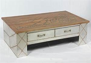 Couchtisch Loft Design : vintage industrie design couchtisch mit schubladen retro tisch beistelltisch loft m bel 505 ~ Indierocktalk.com Haus und Dekorationen