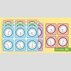 * New * Half Past Times Matching Cards