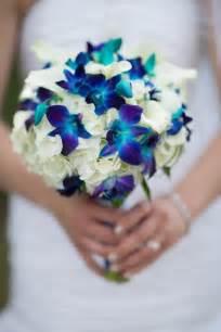blue wedding flowers in bloom