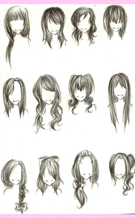 cute drawing hairstyles tumblr