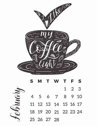 Coffee Calendar Coloring Printable Tcm Calendars Thecottagemarket