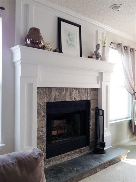 how to redo a fireplace diy fireplace mantel redo diyaffair