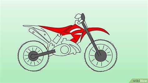 how to draw a motocross bike como desenhar motos de trilha 10 passos com imagens