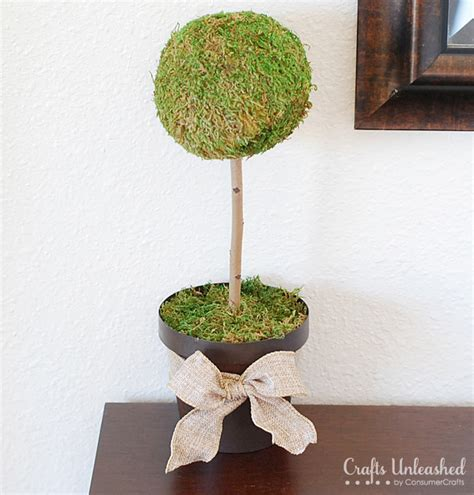 How To Make A Moss Topiary Tree