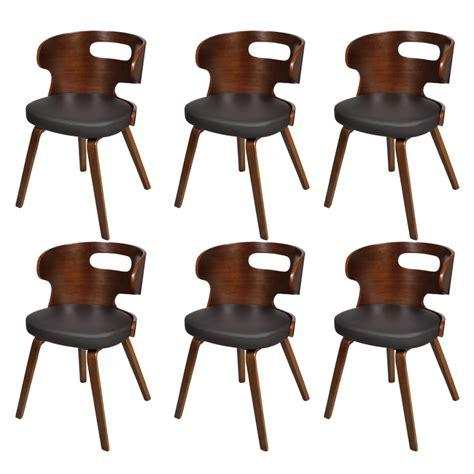 lot de 6 chaises salle a manger la boutique en ligne lot de 6 chaises de salle 224 manger en cuir m 233 lang 233 brun vidaxl fr