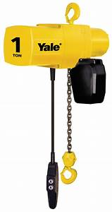 Yale Yjl 2 Ton Electric Chain Hoist 15 Ft Lift Yjl2