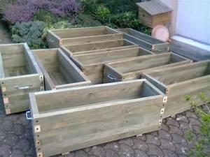 Fabriquer Grande Jardiniere Beton : jardiniere en bois 125 litres ~ Melissatoandfro.com Idées de Décoration