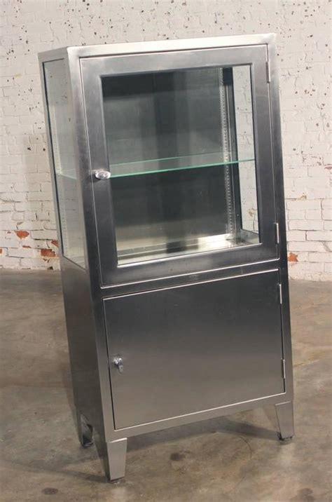 Steel Display Cabinet by Vintage Stainless Steel Lighted Industrial Or
