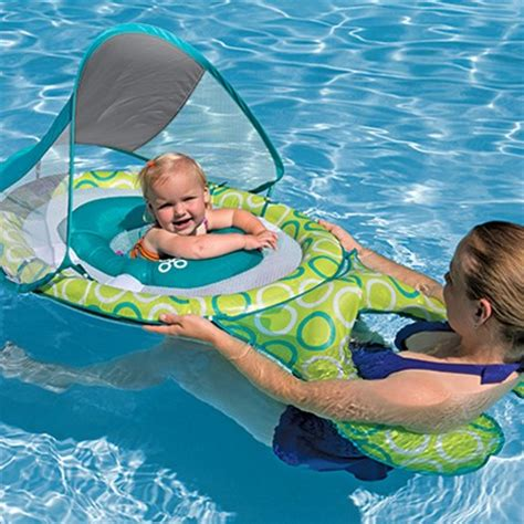baby pool float with canopy baby float me with canopy by swimways
