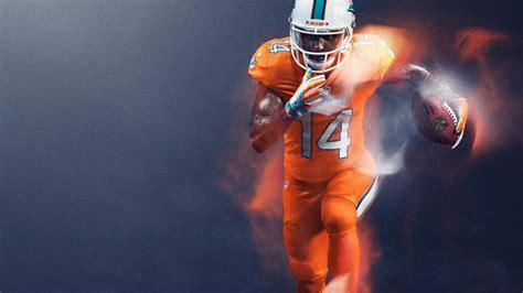 miami dolphins color rush jerseys  highlighter orange