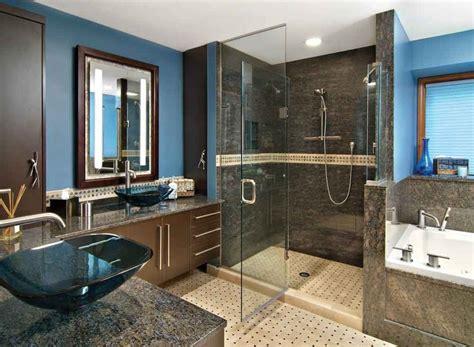 Best Master Bathroom Designs by His And Master Bathroom Blue Design Bookmark 14895