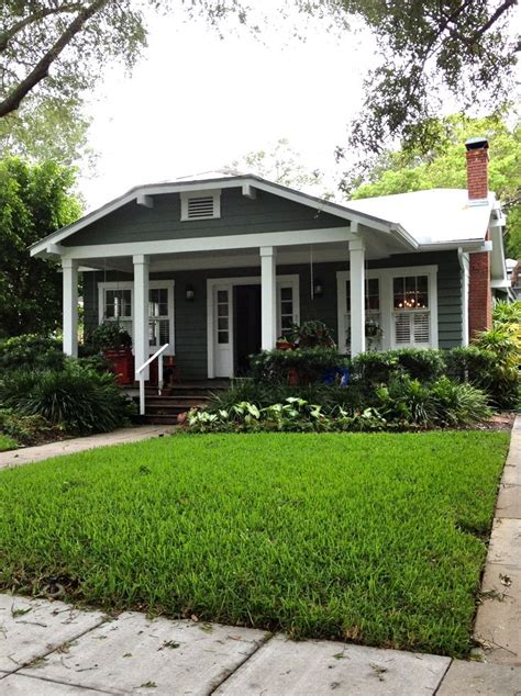 Bungalow Landscaping  Dark Grey Houses Pinterest