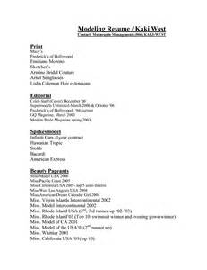 Exle Of Model Resume by Modeling Resume Exles Resume Format 2017
