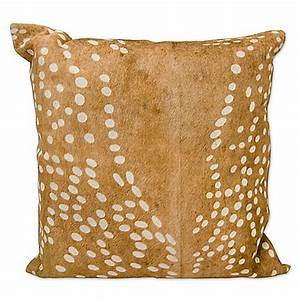 mina victory axis deer print square throw pillow bed With axis deer pillow