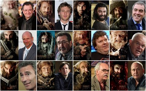 Hobbit Dwarves With And Without Make Up Tolkien But