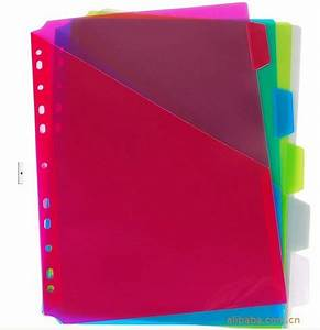 competitive hot selling fashion pp divider for holding With document divider