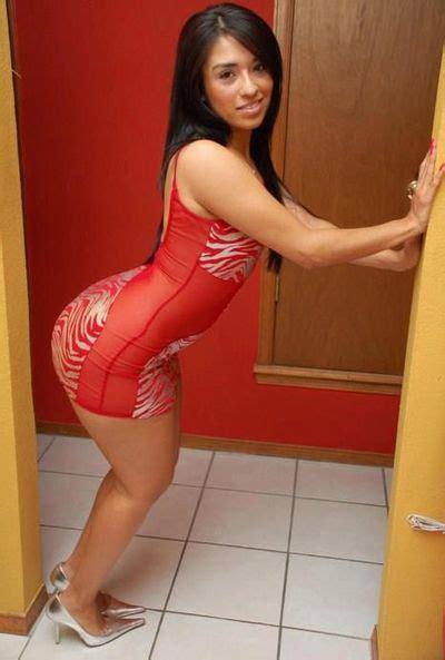 Cutie Red Dress Bubble Butt Latina Sexy Latin Women