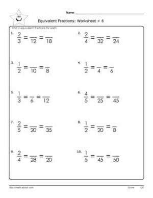 Equivalent Fractions Worksheet Pdf  Reducing Fractions To Lowest Terms A Worksheet9 Worksheets
