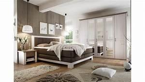 Schlafzimmer Set Mit Boxspringbett : schlafzimmer set luca mit boxspringbett nevada pinie wei ~ Lateststills.com Haus und Dekorationen