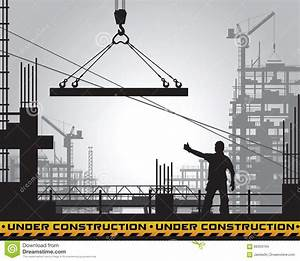 Building Under Construction Silhouette. Stock Vector ...