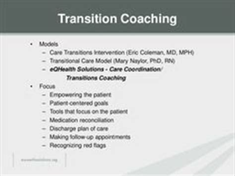 charting    high quality care transitions