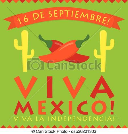 Retro style viva mexico (mexican independence day) card in ...