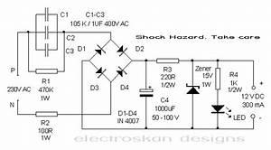 12 Volt Capacitor Power Supply  U2013 Mohan U0026 39 S Electronics Blog