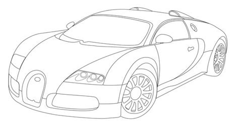 drawn car bugatti veyron pencil and in color drawn car