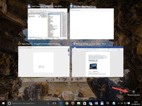 raccourci clavier bureau windows 10 raccourcis clavier pour les bureaux virtuels