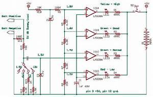 Battery Level Indicator  Lm339  Circuit Diagram World
