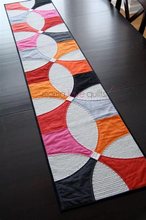 modern patchwork winter table runner blogged