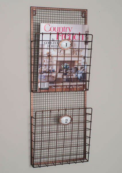 hanging magazine rack two compartment hanging wire wall magazine holder