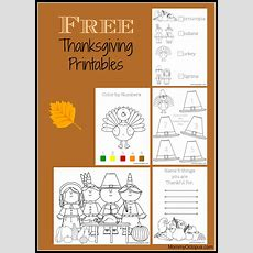 Free Thanksgiving Printable Activity Sheets!  Mommy Octopus