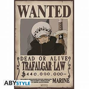 ONE PIECE Poster Wanted Trafalgar Law (52x35cm) - ABYstyle