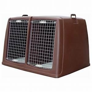 Grande Cage Pour Chien : cage de transport argo pour chiens double morin ~ Dode.kayakingforconservation.com Idées de Décoration