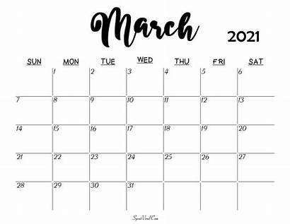 Calendar 2021 March Printable Blank Templates