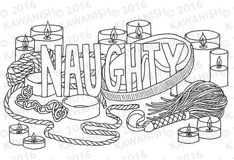 naughty kinky bdsm adult coloring page wall art