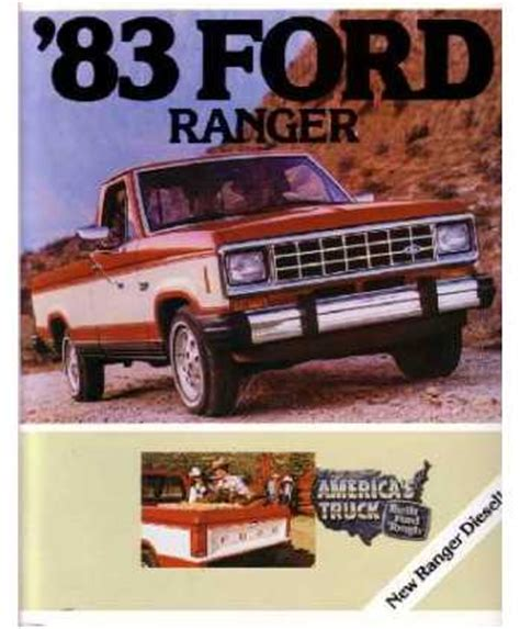 ford ranger sales brochure