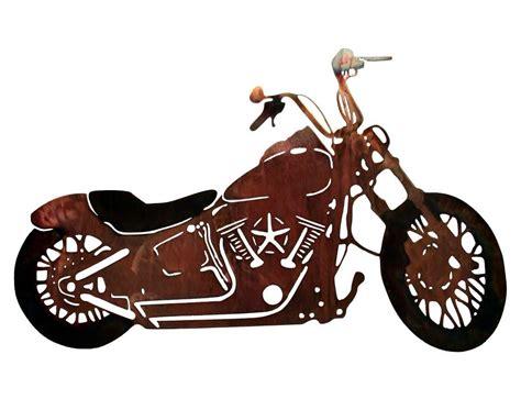 Smw117 Custom Metal Motorcycle Wall Art Night Train