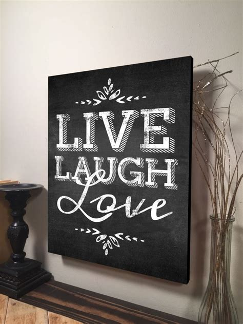 Live Laugh Home Decor by Live Laugh Wall Inspirational Quote Home Decor