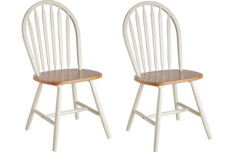 collection kentucky pair of solid wood chairs two tone
