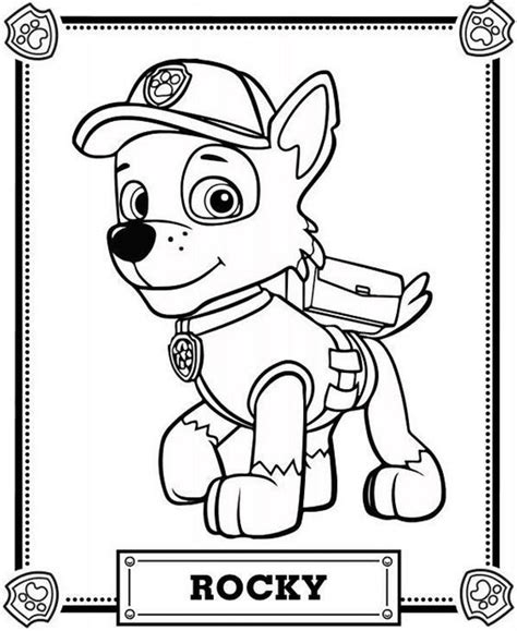 Thingiverse is a universe of things. Rocky In PAW Patrol Coloring Page - Free Printable Coloring Pages for Kids