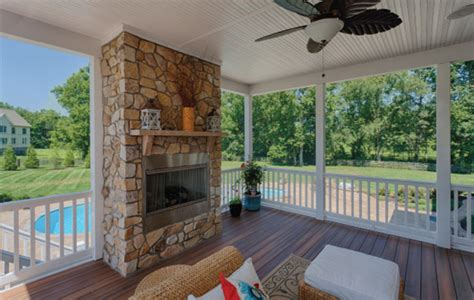 screen porch overlooking pool outdoor kitchen traditional porch dc metro by homeland