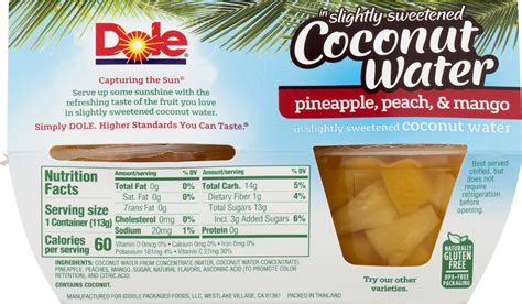 dole pineapple fruit cups nutrition facts besto blog
