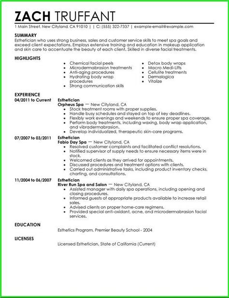 Esthetician Resume Templates by Pin By Cechova On Esthetics Sales Resume Exles