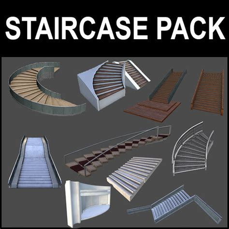 sweet home 3d escalier stairs pack by arx f 3docean